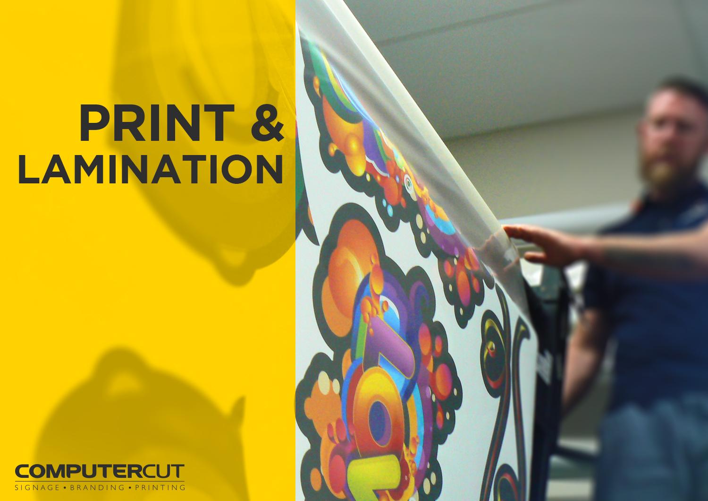 Portfolio - Computercut Signs Caloundra - Project Slideshow - Slide 03 Printing and Laminating