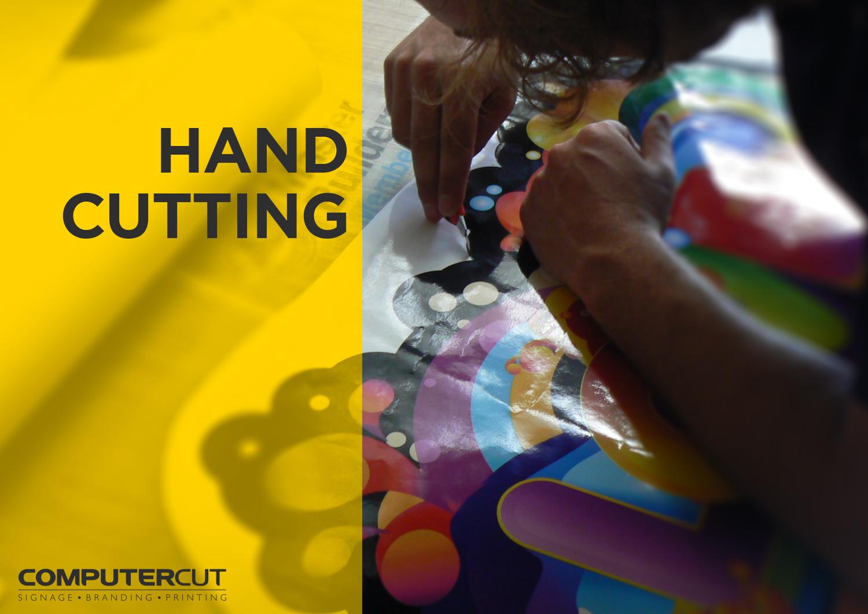 Portfolio - Computercut Signs Caloundra - Project Slideshow - Slide 06 Hand Cutting