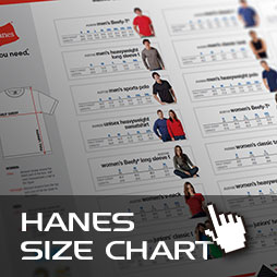 Computercut Caloundra - Hanes Size and Fitting Information Chart