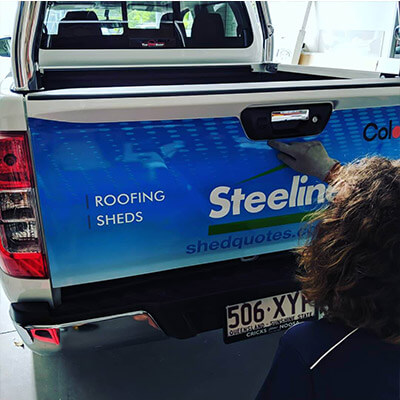 Computercut Signs Caloundra - Tailgate Work Ute Wrap
