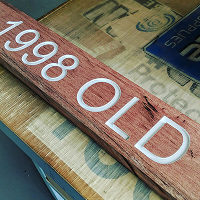 Computercut Signs Caloundra - Old School Techniques on Solid Wood